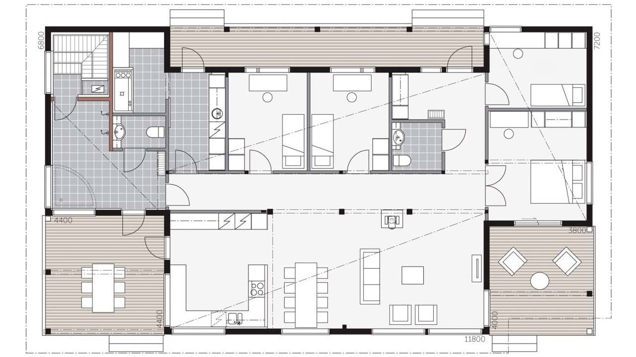 Проект одноэтажного деревянного дома Ауринкометса