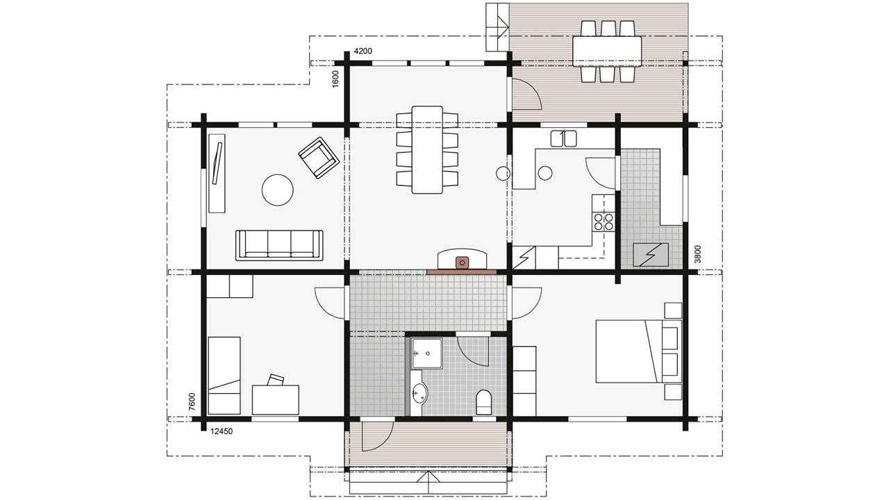План небольшого деревянного дома Контио