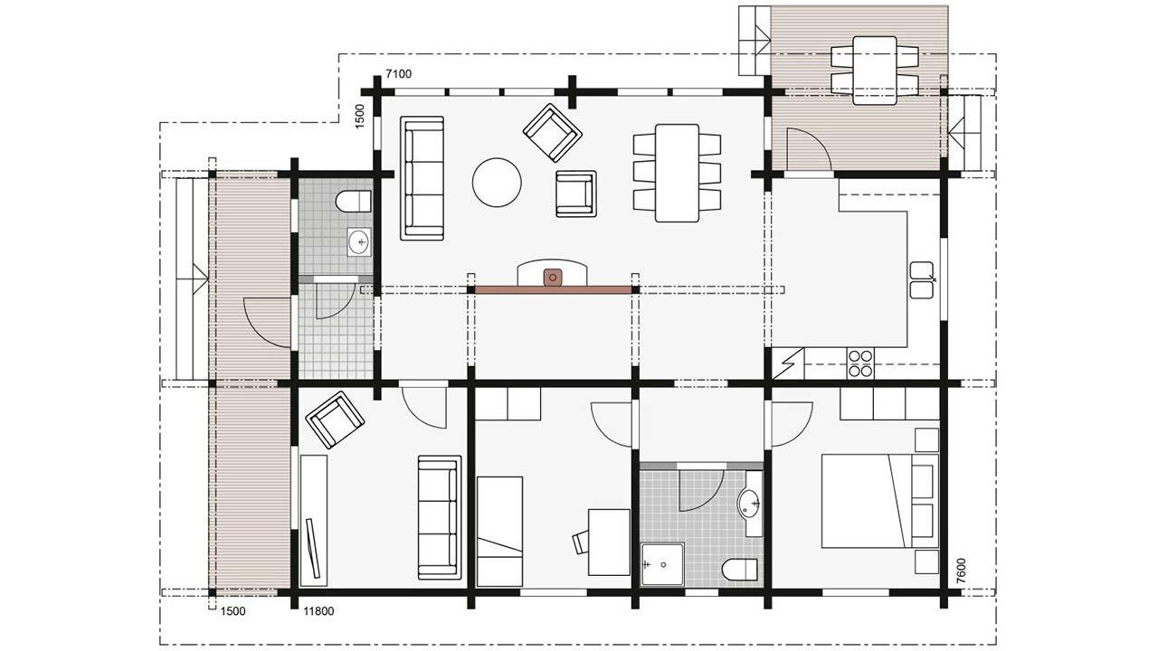 Проект дома Контио Дельфиниум