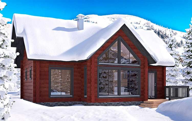 Уютный дом из бруса с мансардой