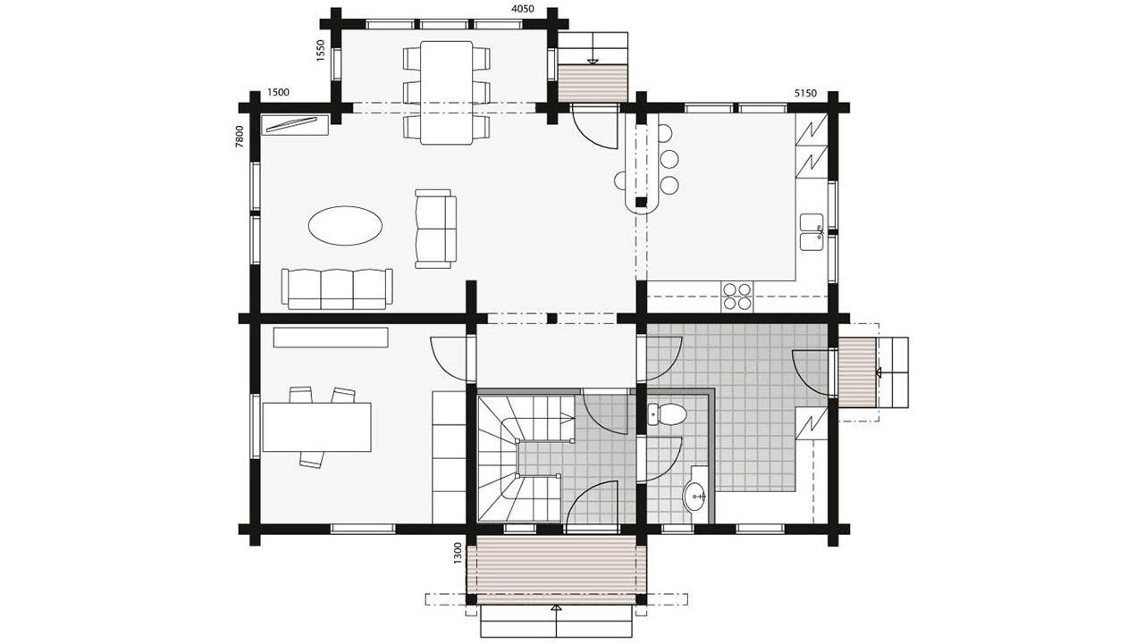 План двухэтажного дома Fragaria 2