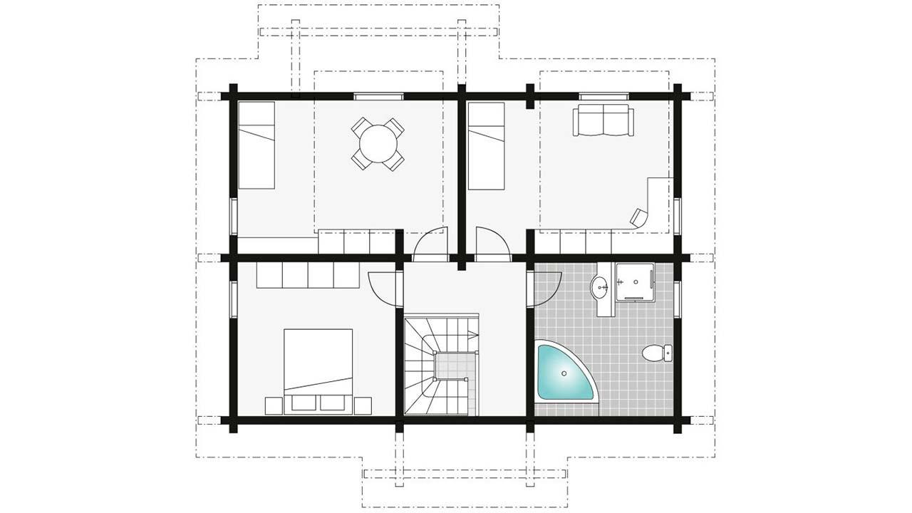 Планировка второго этажа коттеджа Фрагария