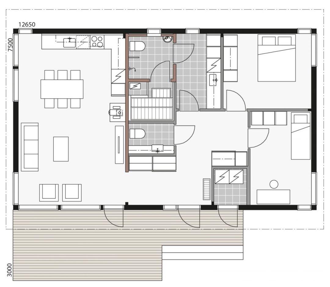 Проект современного дома из бруса