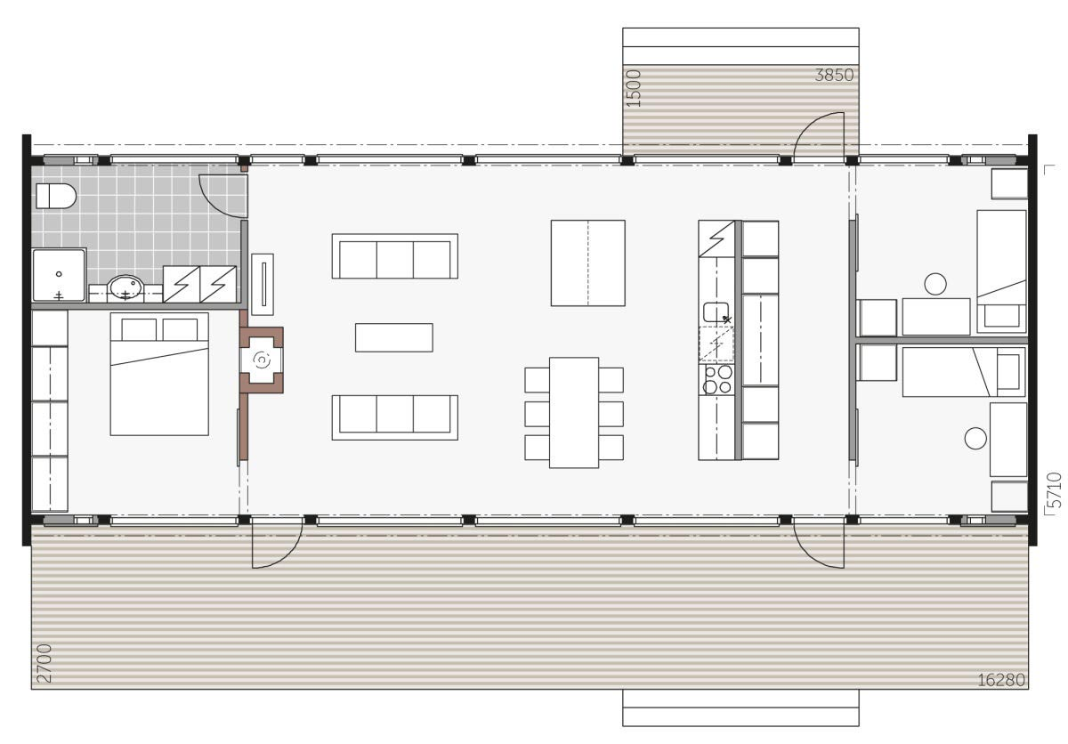Проект просторного деревянного коттеджа