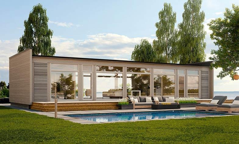 Современный коттедж GlassHouse 100