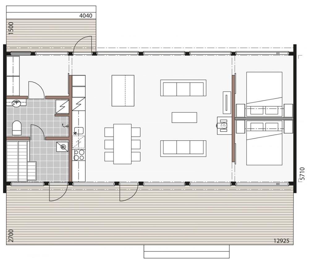 План стильного дома для отдыха