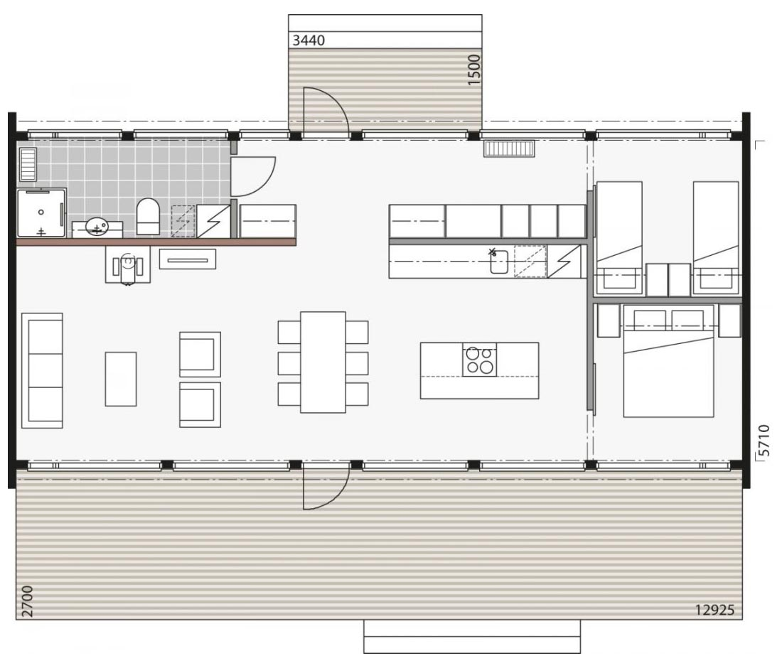 Проект финского дома для отдыха