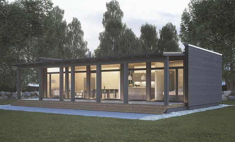 Стильный дом GlassHouse 80