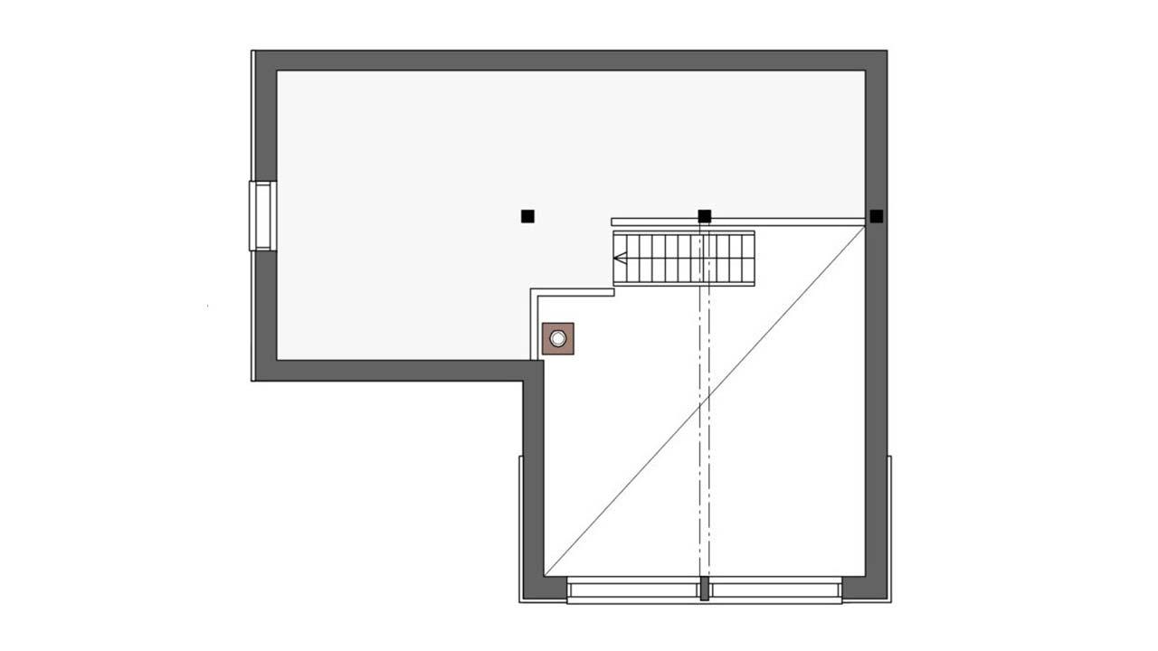 План дома из бруса Контио Леви А второй этаж
