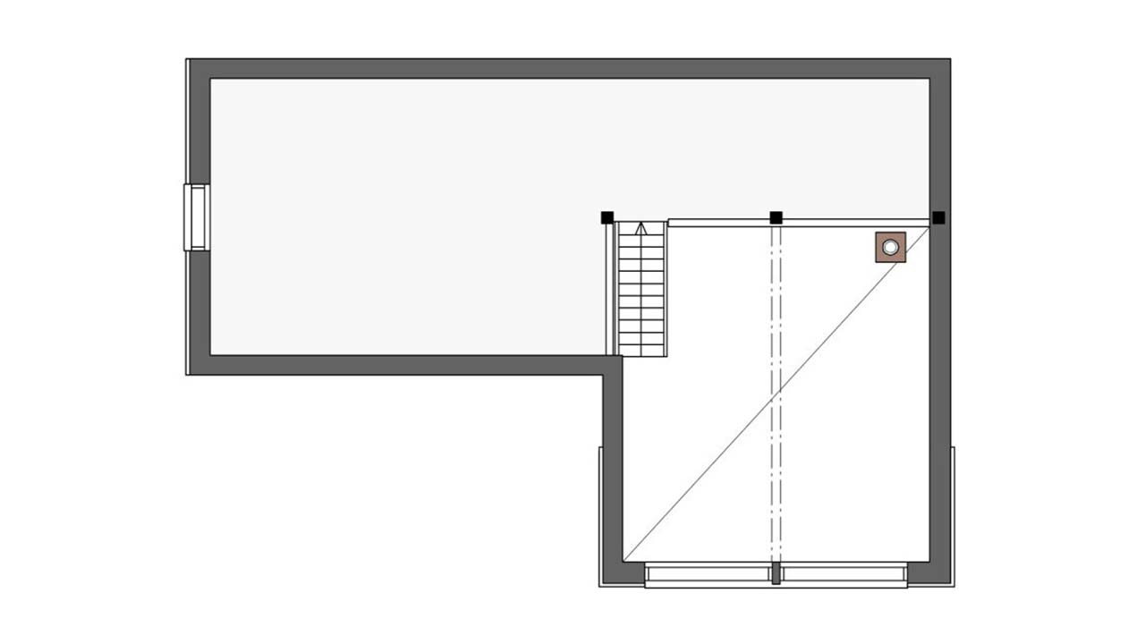Лофт пространство в доме из бруса Контио Леви В