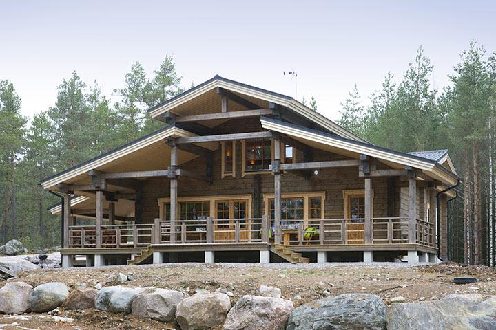 Частный проект деревянного дома