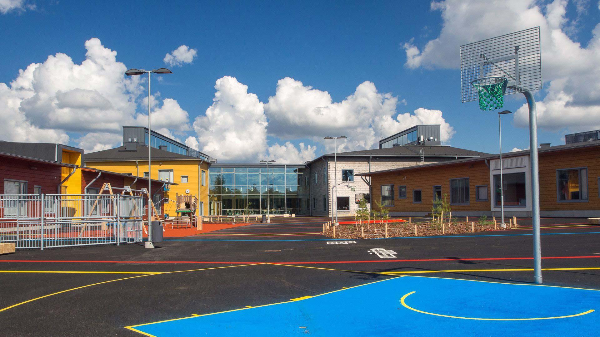 спортивная площадка финской школы