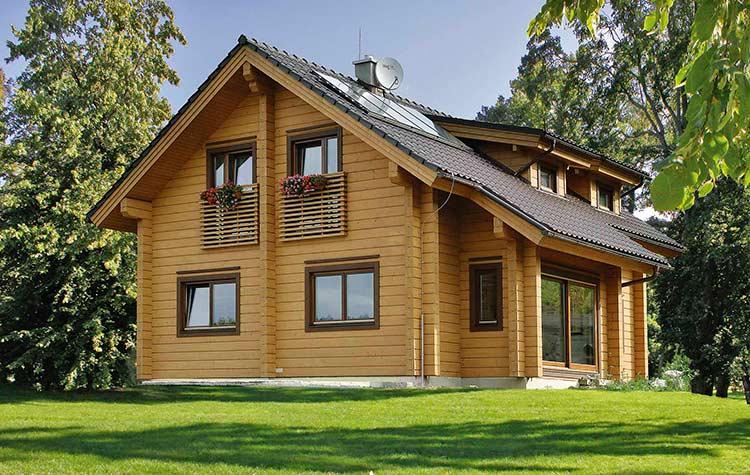 Fragaria красивый деревянный дом