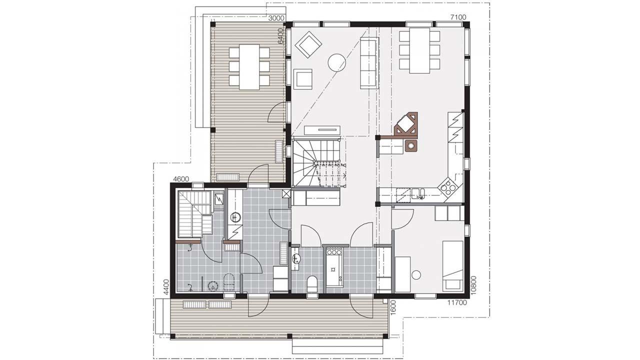 Проект деревянного дома Контио Merikallio B