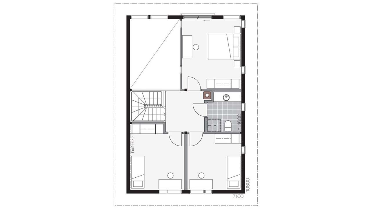 План деревянного дома Контио Merikallio В