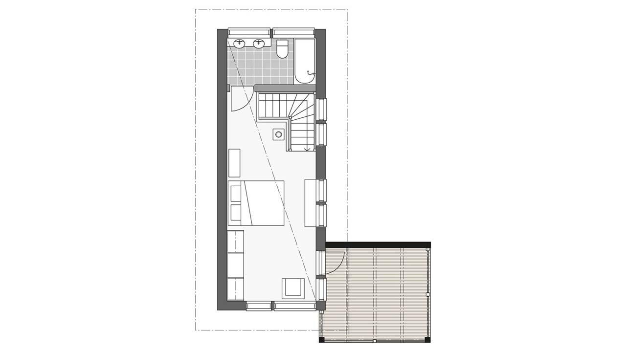 Проект второго этажа двухэтажного дома Контио Тойве второй этаж