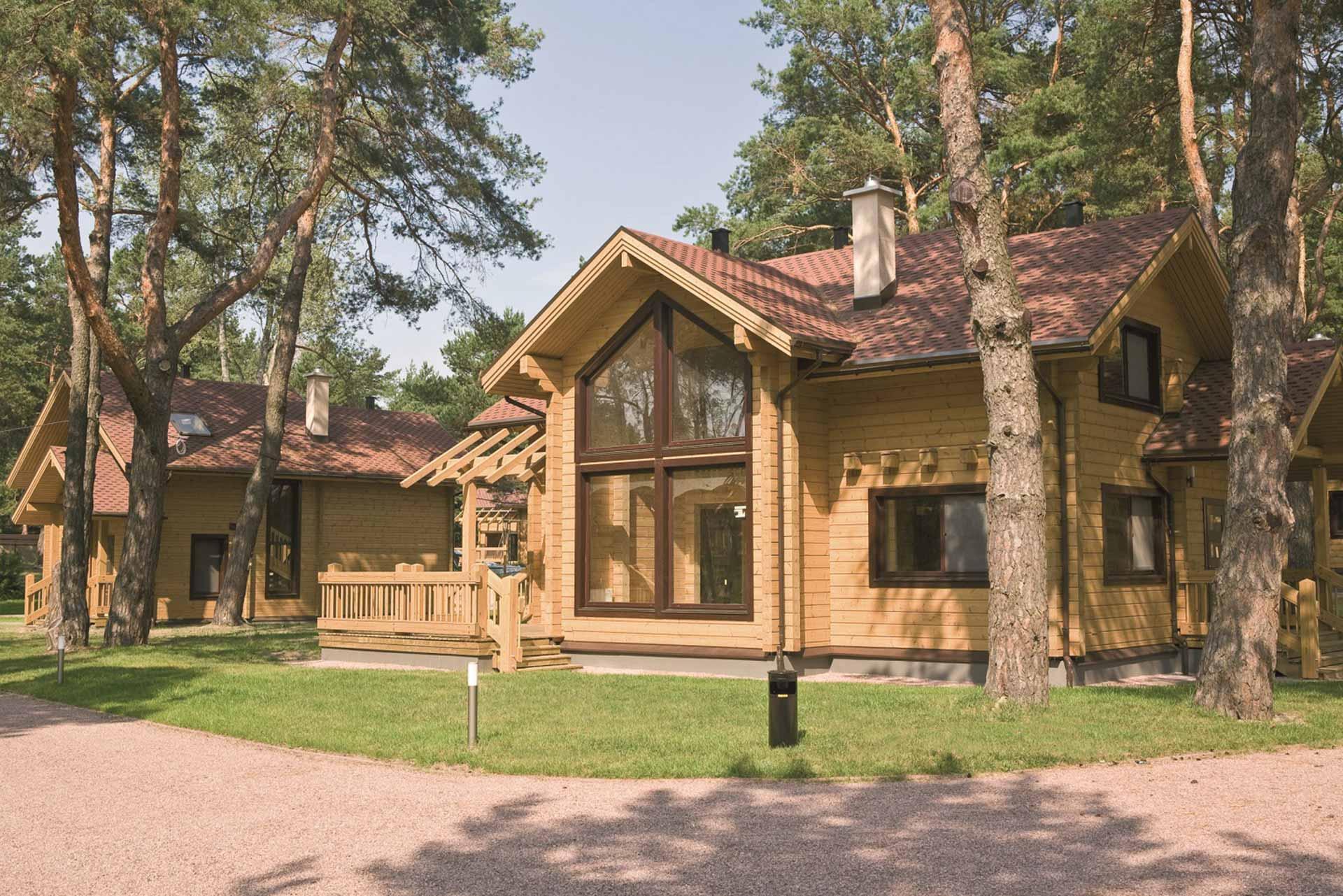 Дом построенный в лесу