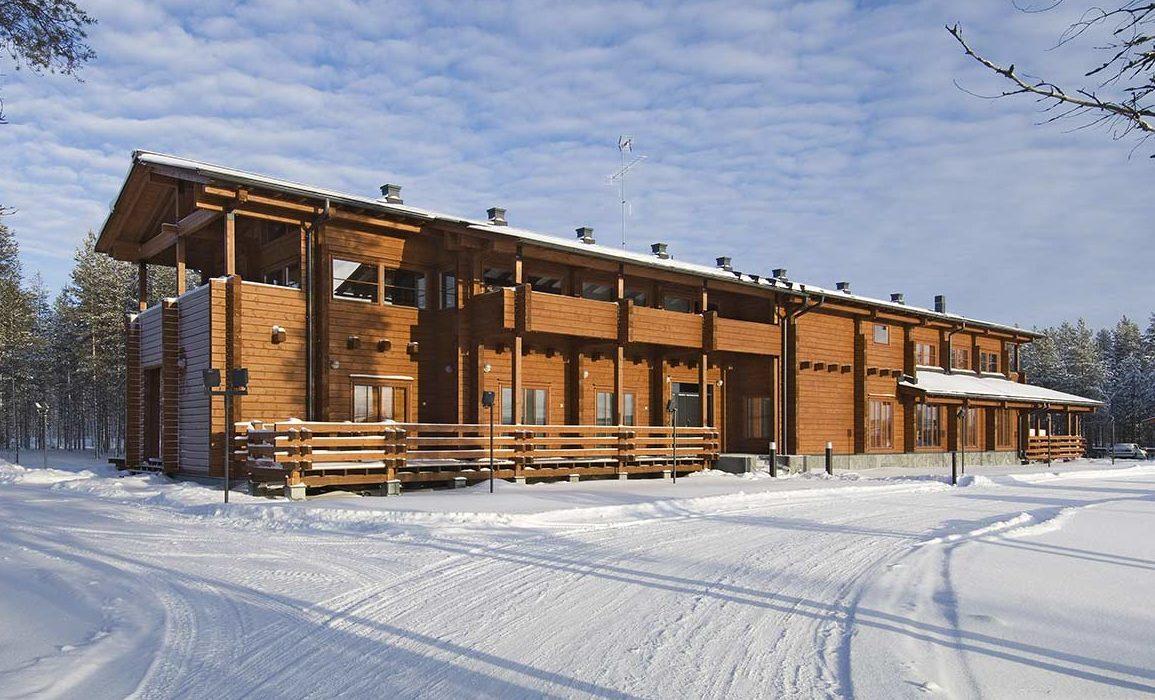 Деревянный офис Контио в Финляндии