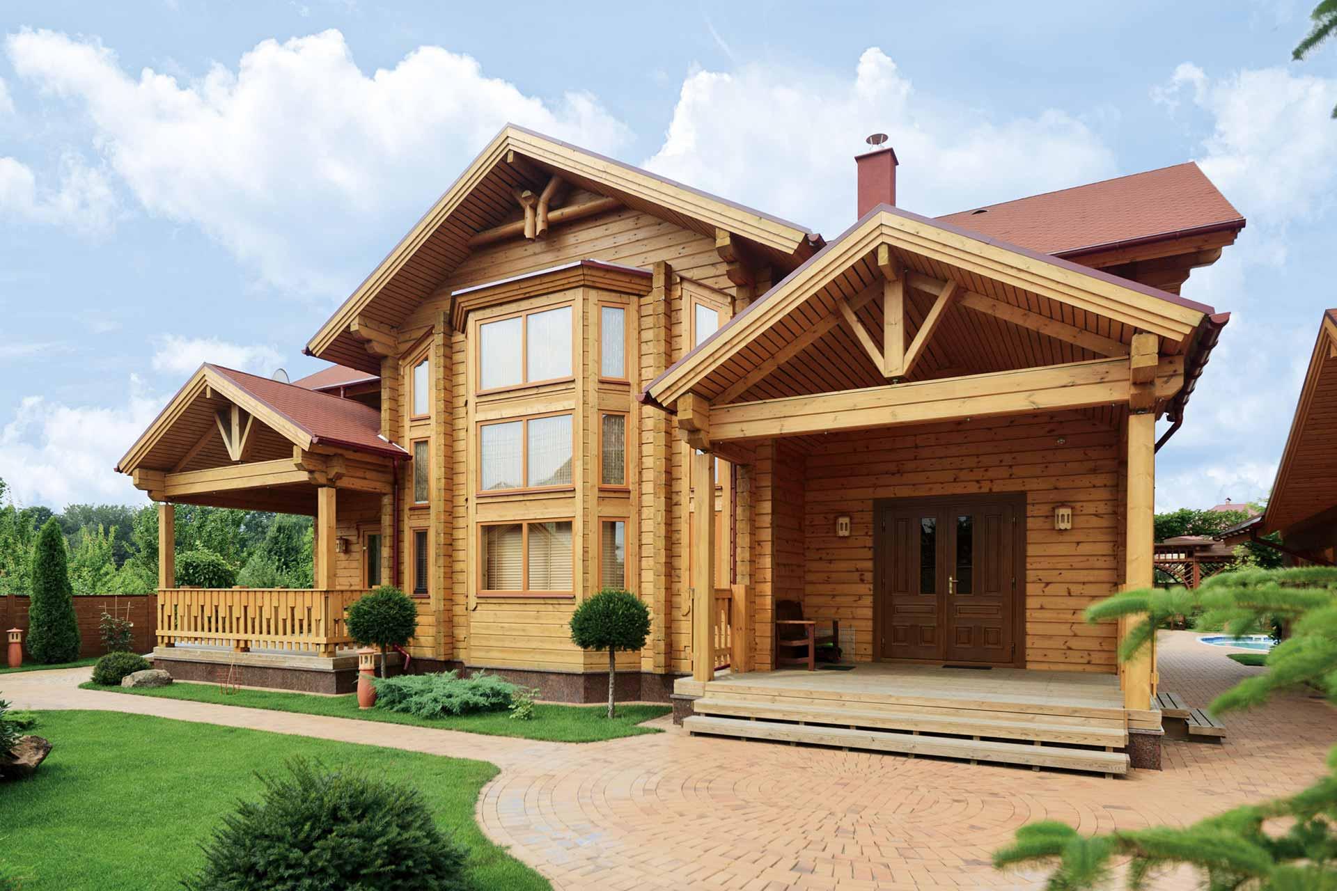 Здоровый дом из натурального дерева