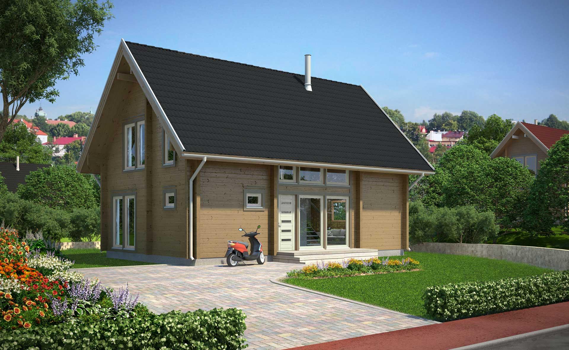 Проект дома из бруса Apertus