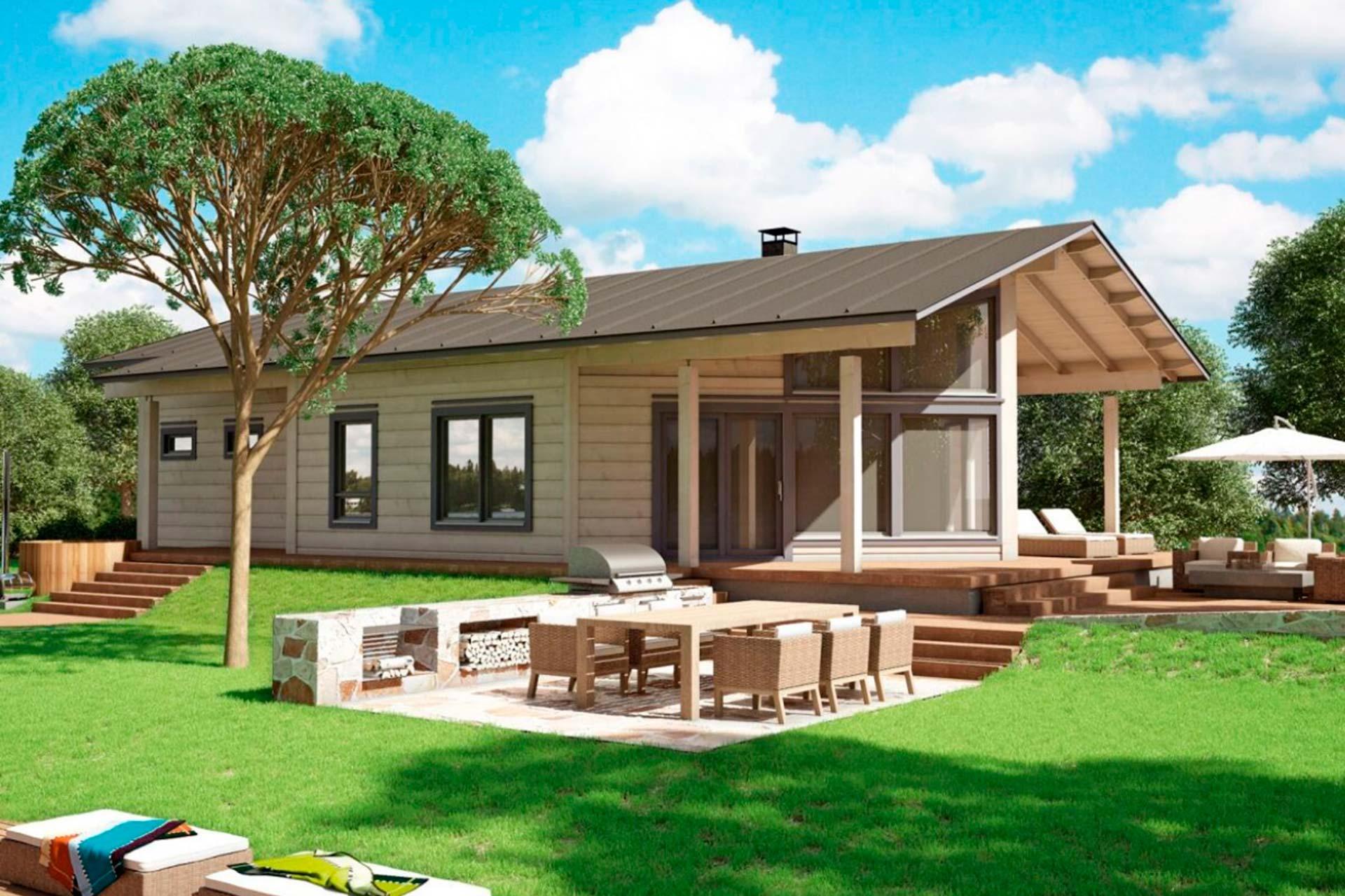 Модель деревянного дома из бруса Контио Сараниеми