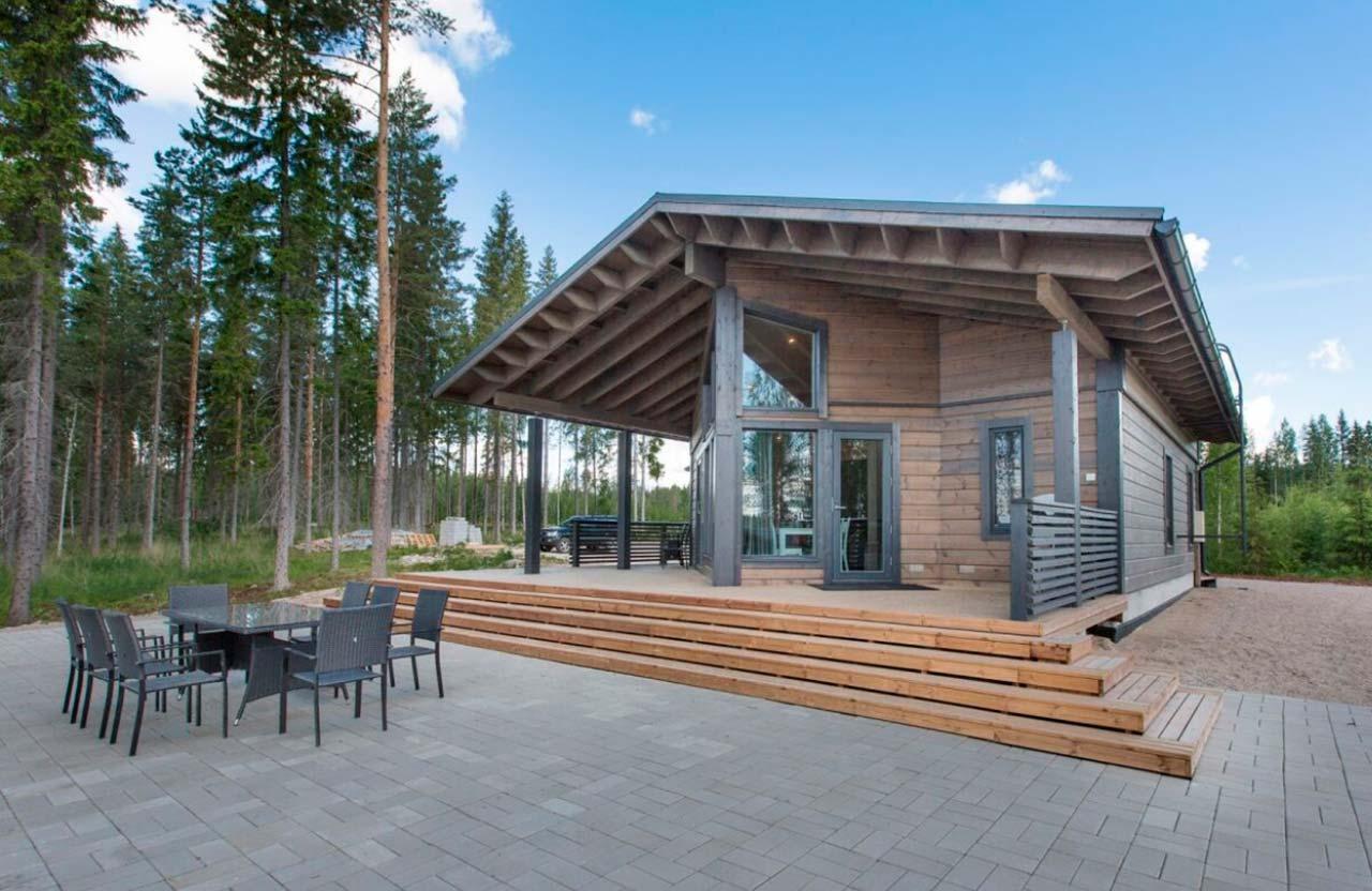 Дизайн деревянного дома Сараниеми