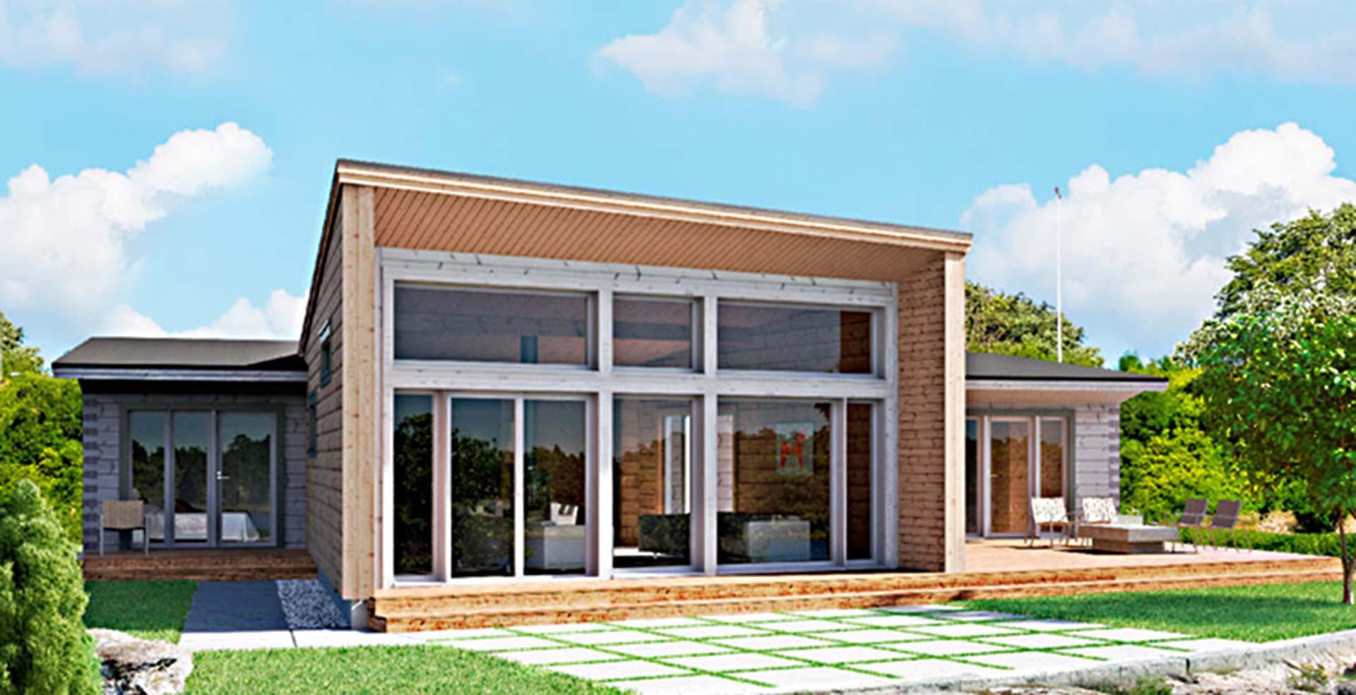 Деревянный дом в стиле хай-тек