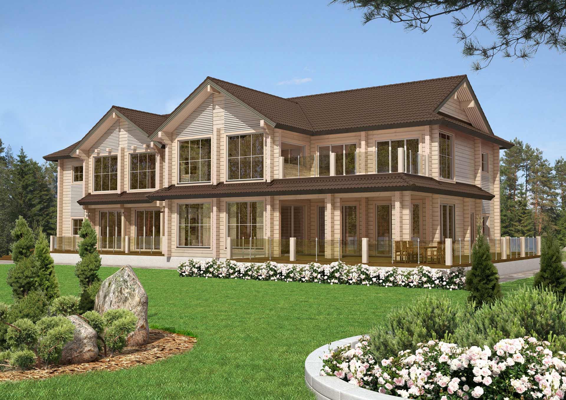 Проект элитного дома из дерева