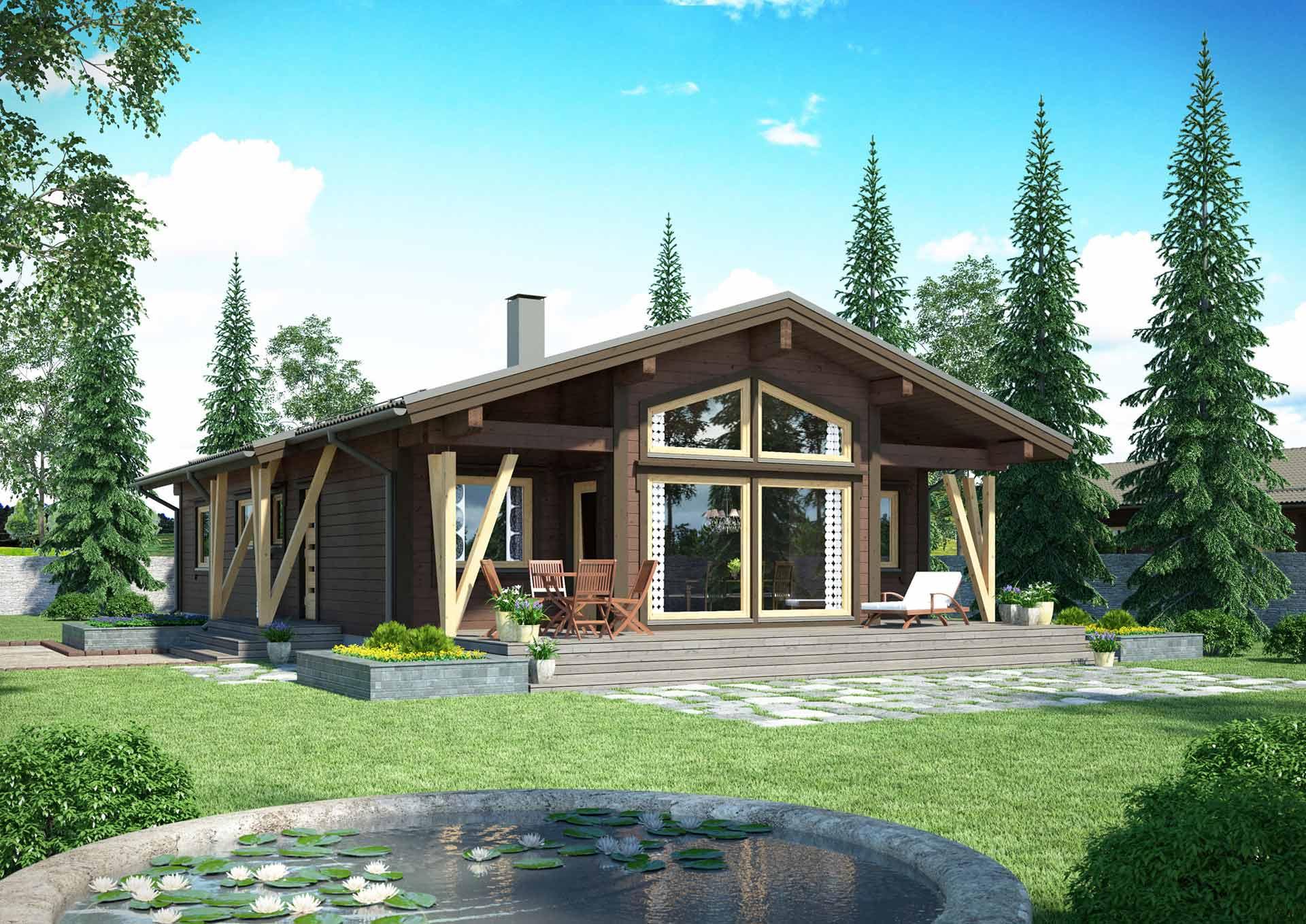 Комфортный и теплый деревянный дом