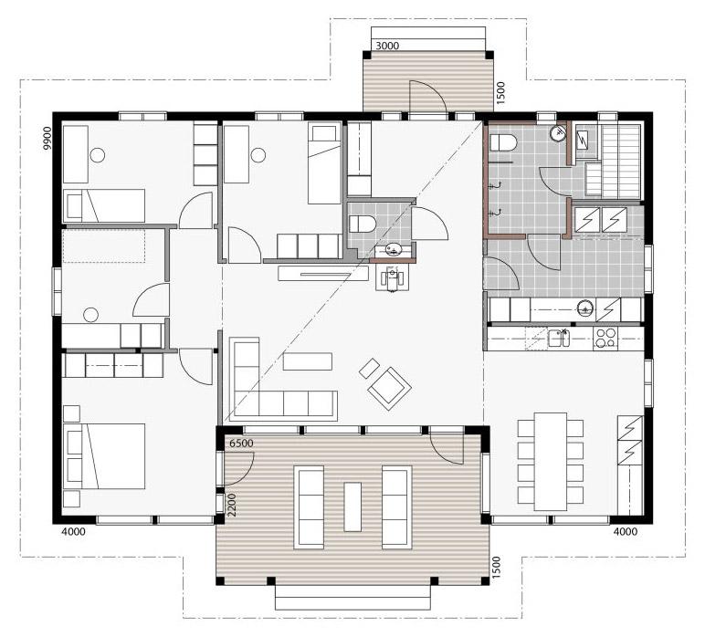 Проект роскошного дома из дерева