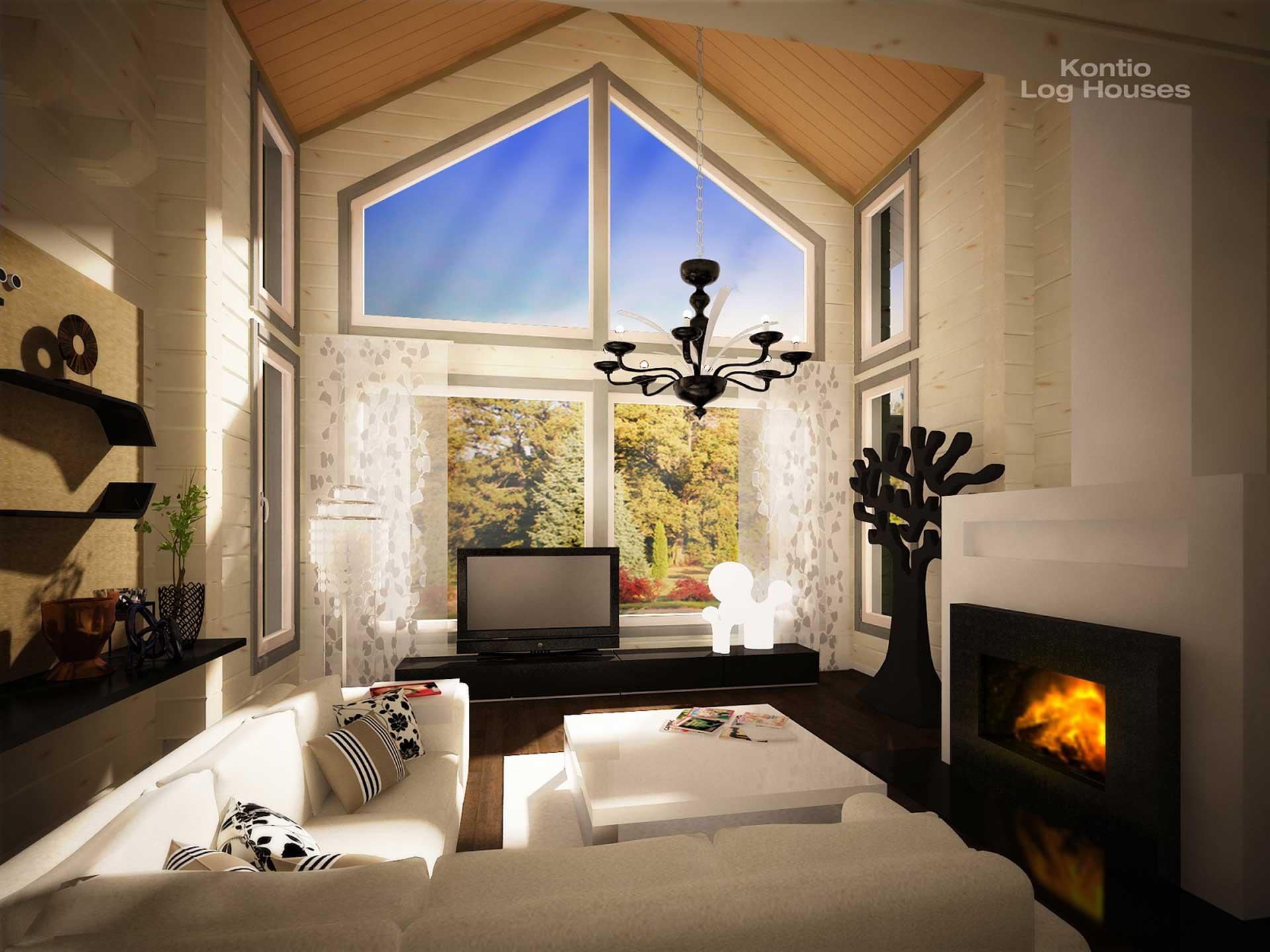Индивидуальный дизайн интерьера гостиной