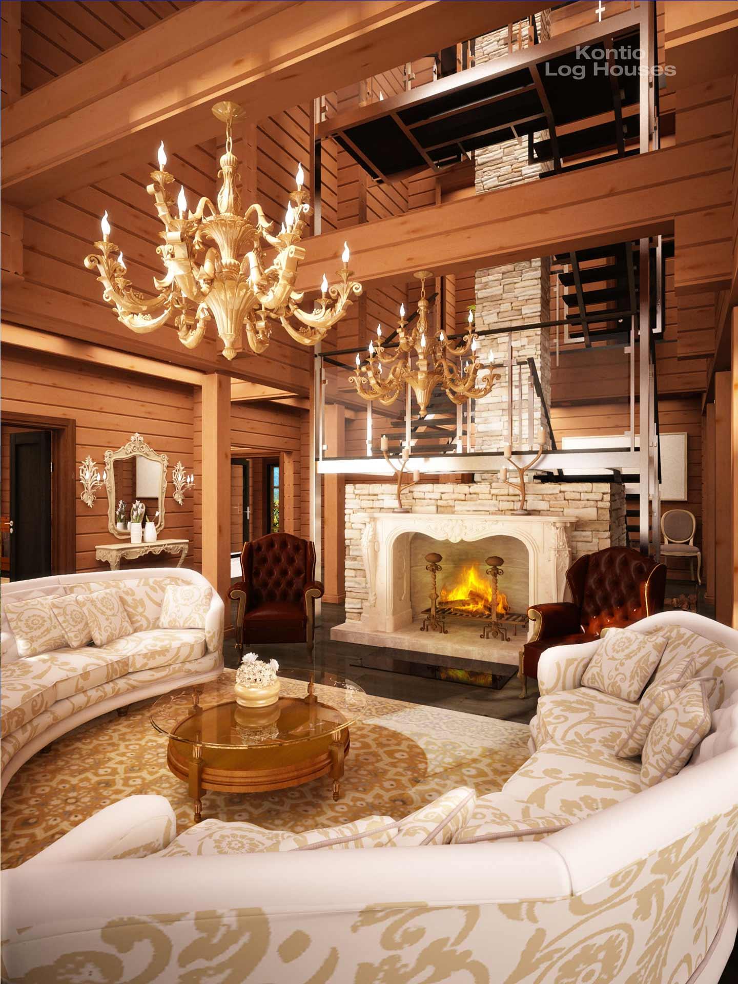 Элитный дизайн гостиной комнаты