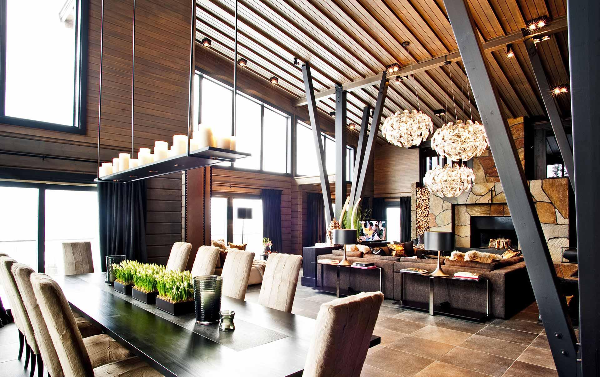 Премиальный дизайн гостиной из бурса