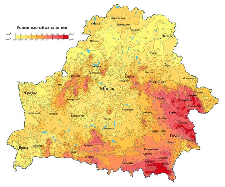 Загрязнение Беларуси цезием