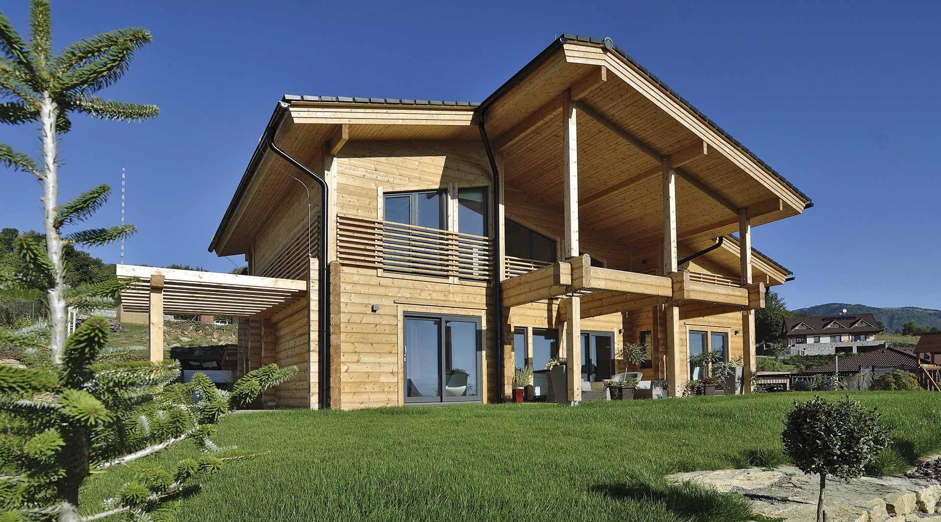 Деревянный коттедж в скандинавском стиле