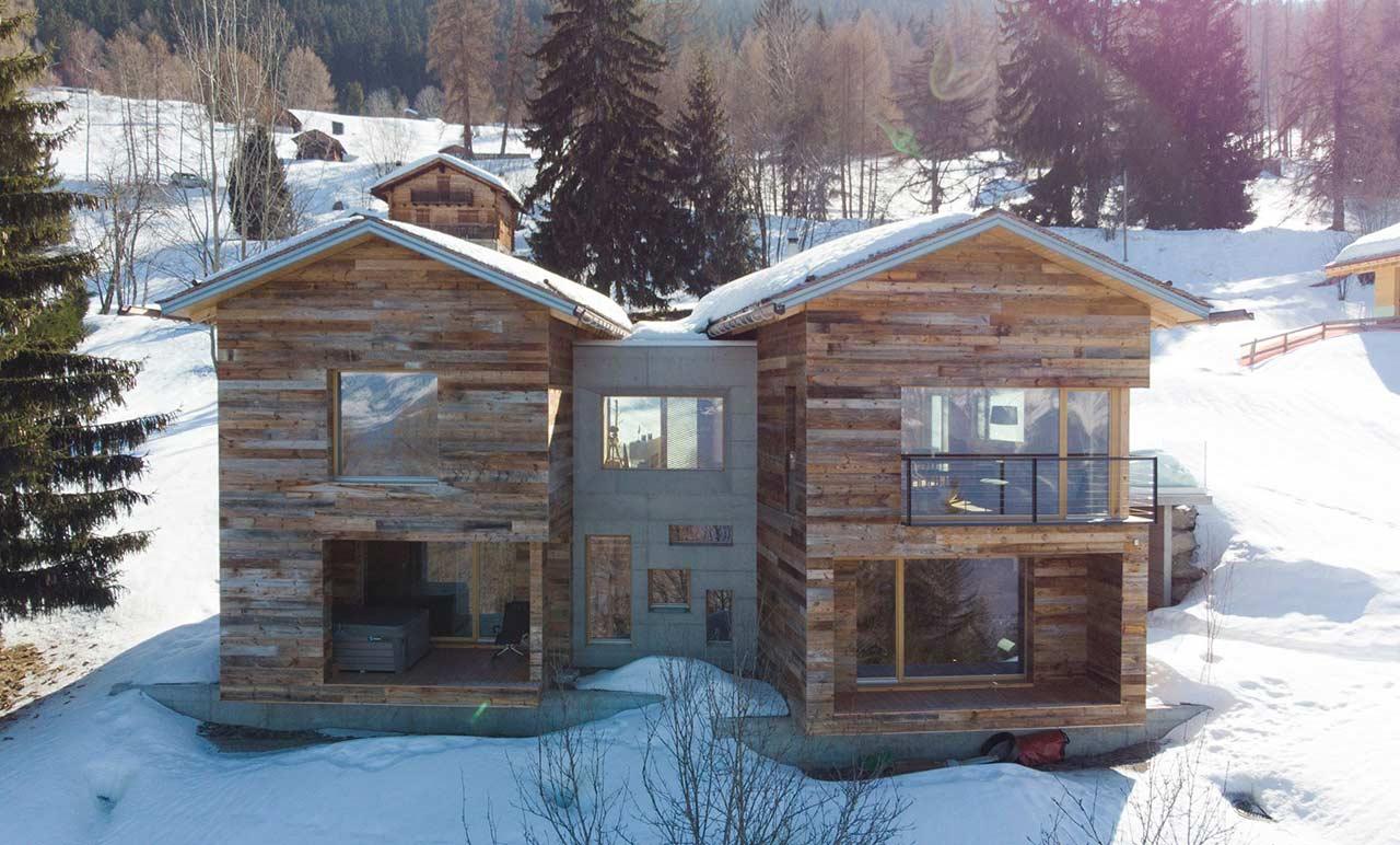 Красивый дом из бруса