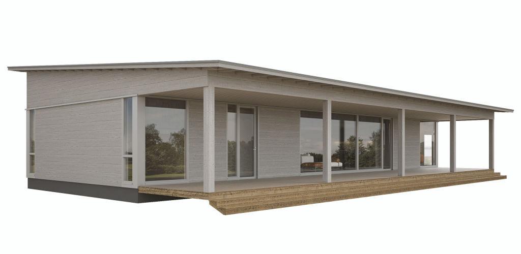 Дом с крытой террасой