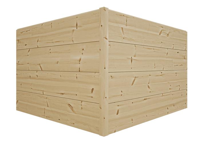 Соединение стен клееного бруса