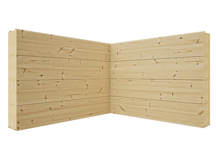 Современный угол соединения бруса