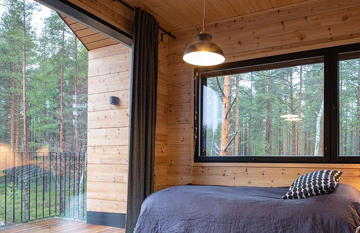 Фото пересечения деревянных стен