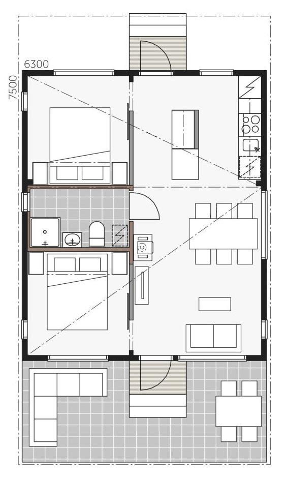 Проект дома Контио Скайхауз 50 А