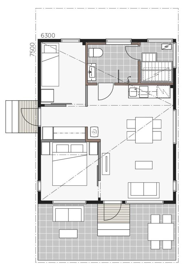 Проект дома Скайхауз 50 В