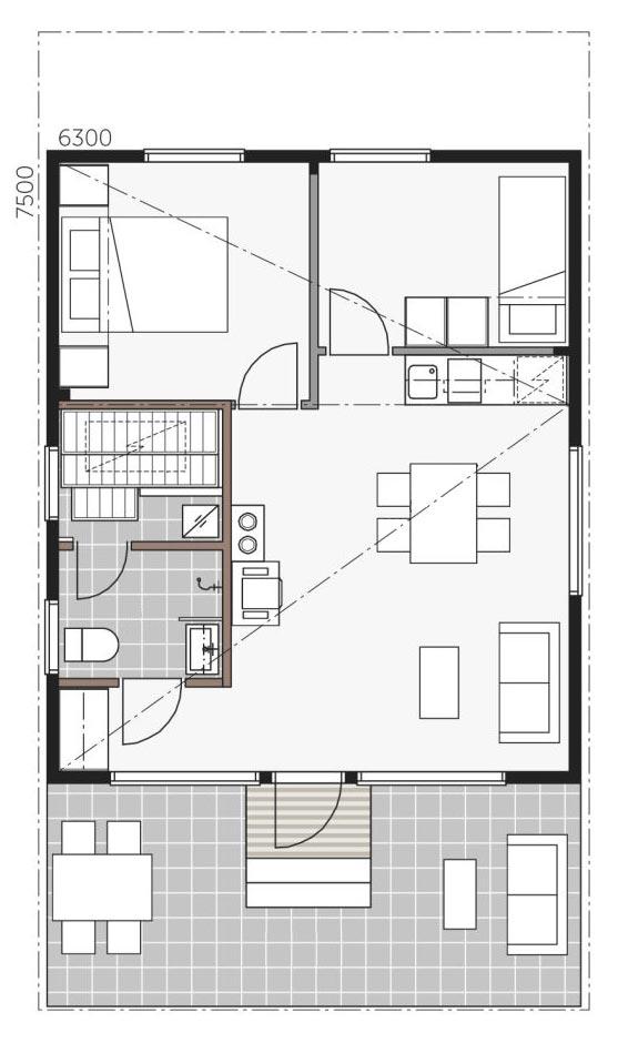План дома Скайхауз 50 С