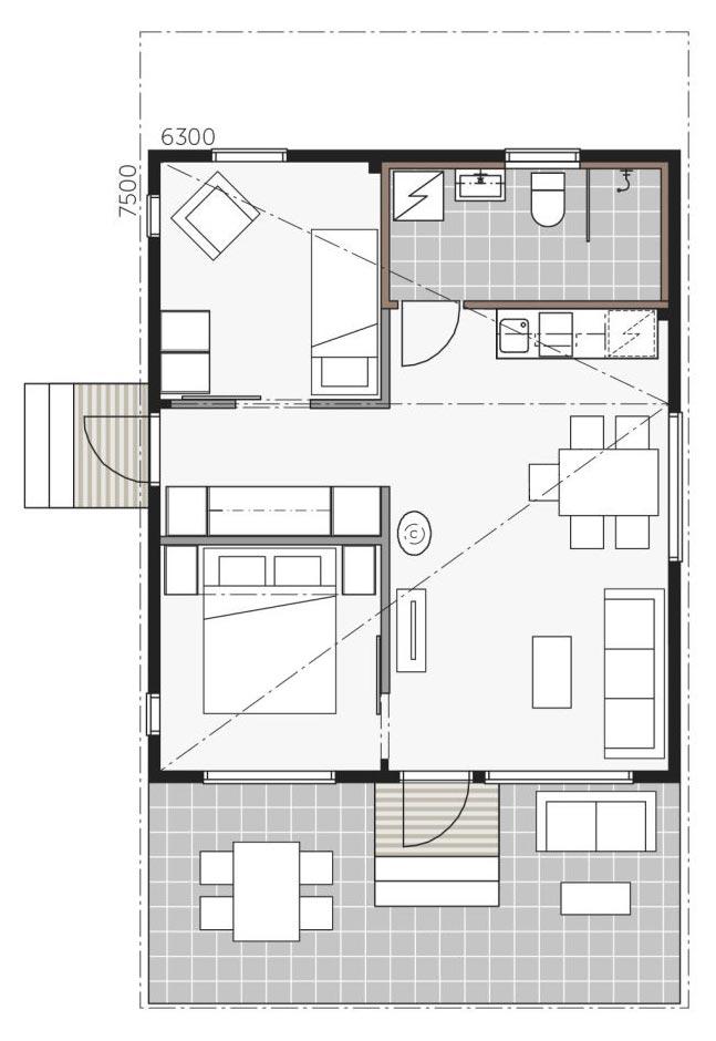 План дома Контио Скайхауз 50 D