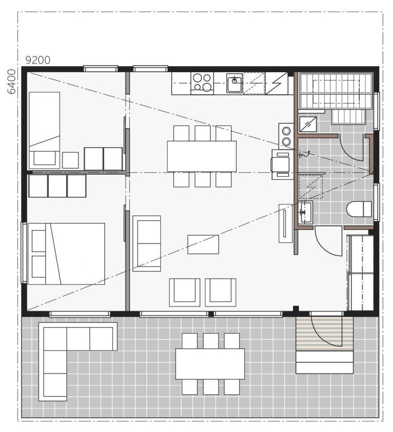 Проект дома с сауной Скайхауз 60В