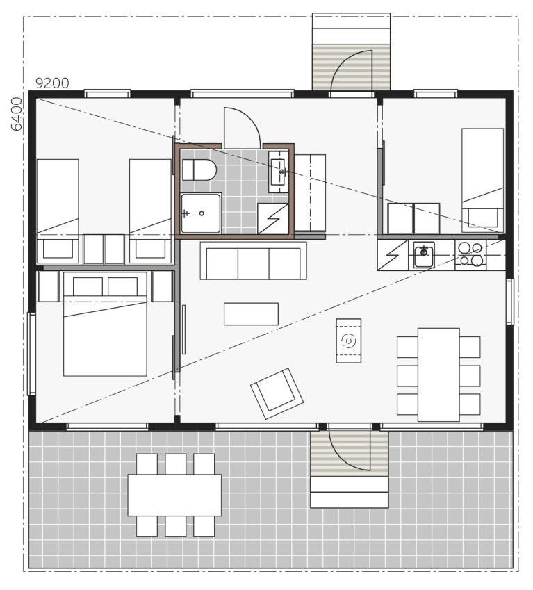 Проект гостевого дома Контио Скайхауз 60С