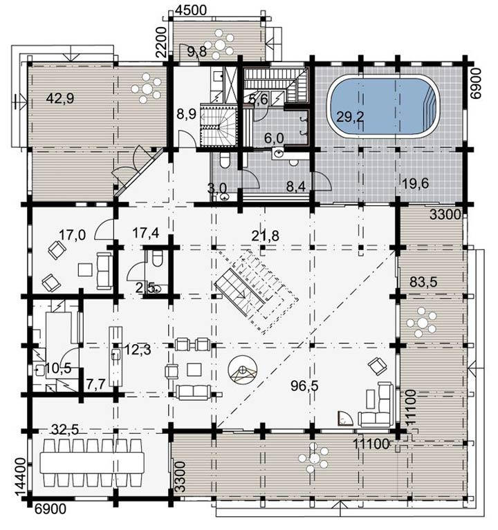 План этажа премиум коттеджа