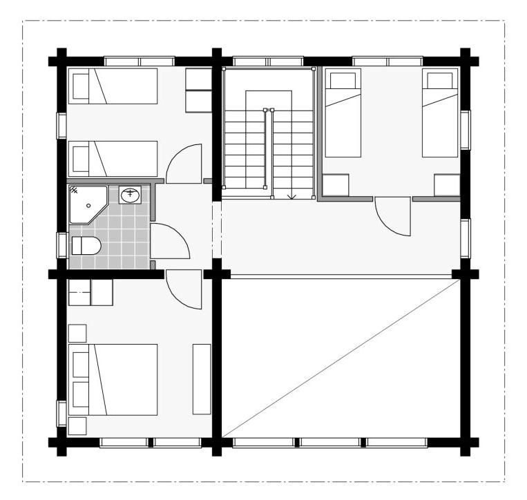 План второго этажа шале