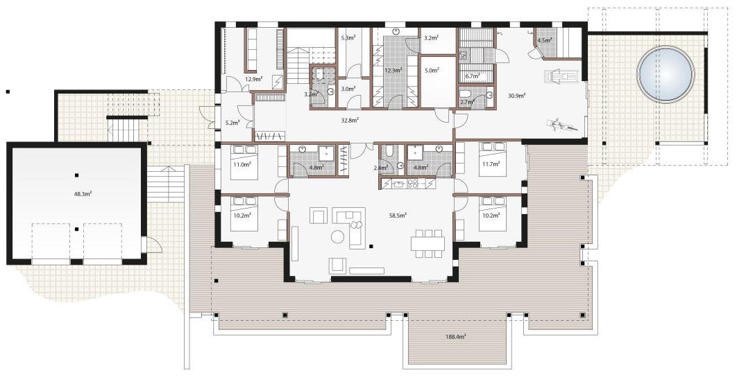 Цокольный этаж в частном доме