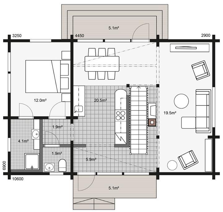 Схема строительства первый этаж